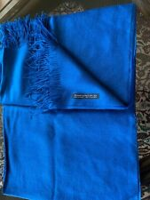 alpaca and silk blue scarf Peru