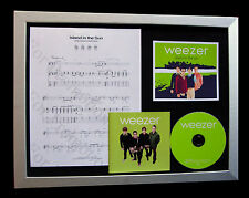WEEZER Island In Sun LTD CD TOP QUALITY FRAMED DISPLAY+EXPRESS GLOBAL SHIPPING!!