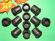"(16) NEW 1"" BLACK RUBBER CANE TIPS FOR WALKERS, CRUTCHES, WALKING STICKS, ETC."