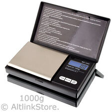 SAGA DIGITAL SCALE 1000g/1kg x 0.1g GOLD SILVER COIN POCKET JEWELRY SIZE HERB OZ