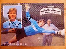 1. FC NÜRNBERG  SCHALKE 04   Autogrammkarte  HERBERT HEIDER   Saison 1983/84