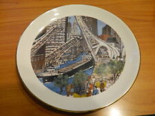 Great Lakes Traffic Chicago River Franklin McMahon Chicago Collection Plate 1978