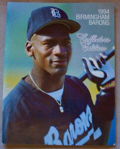 MICHAEL JORDAN BASEBALL 1994 BIRMINGHAM BARONS 88 pg PROGRAM BOOK +