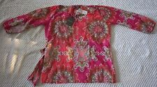 Tommy Bahama, Women's Pink Sand Dollar Paisley Top, Size small, NWT $138