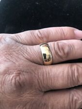 14k Solid Yellow Gold 6mm Wegging Band Ring Size 10 Ladys Or Mans 8.00 Gr Not Sc