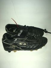 Omega Size 4 Soccer Cleats Black Kids Youth