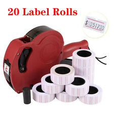 More details for new price tag gun pricing labeller +20 label rolls sticker spare ink shop retail