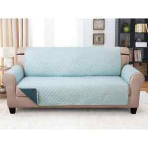 """COUCH GUARD Furniture Protector-Sofa Cover REVERSIBLE  Jade/Teal 75"""" X 110"""""""