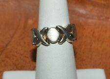 ITALY STERLING SILVER XOXO BAND RING SIZE 6