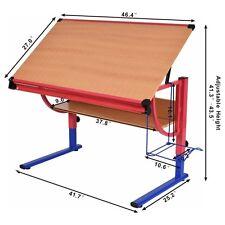 Home Adjustable Drafting Table Workstation Drawing Desk Art & Craft Hobby Studio