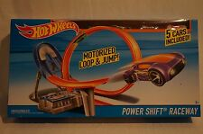 HOT WHEELS Power Shift Raceway Motorised Loop Jump 5 Cars Set Race Track Way NIB