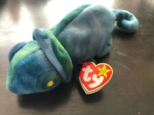 Rare Ty Original Beanie Baby Rainbow 1997 Retired W TRUE Errors story  Chameleon df24e729a486