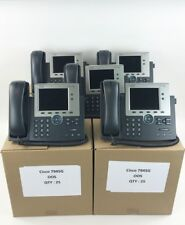 Cisco CP-7945G 7945 VoIP Unified IP Phone PoE SCCP/SIP - Used working Lot of 10