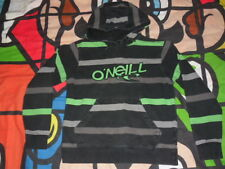 O'NEILL 2 Tone Grey with Green Logo Hoodie Hoody Size S Oneill
