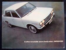 DATSUN 1300 Sporty Family Sedan Car Sales Brochure c1970 #PE 6071-901150
