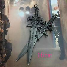 "US Seller Heavy Miniature League Of Legends Duo Chain Black Sword 6.5"""