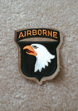 101st Airborne Division (1 - piece) patch on Khaki