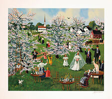 Sally Caldwell Fisher - To the Bride!, hand-signed serigraph