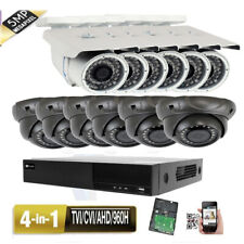 16CH All-in-1 H.264 DVR 5MP 4-in-1 AHD 12pcs Security Camera System 3TB USB