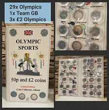 OLYMPIC SPORT - ALBUM LONDON 2012 for 30x 50p coins and 3x£2. NO COINS. JB Album