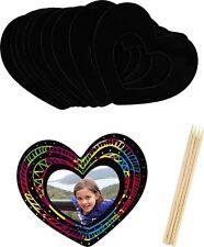 New Scratch Art Love Heart Frame (Pack of 10) Including Magnet, Au Seller