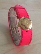 LOUIS VUITTON neon PINK Signature Print Bracelet 100% Auth 2003 RARE Used