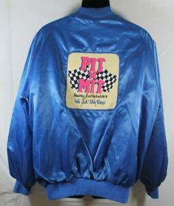 VTG Hobby Shop - Racing Collectibles Satin Jacket Embroidered Sz XXL