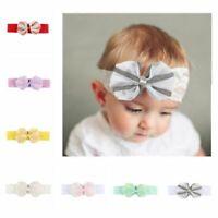 New Stretch Lace Toddler Headwear Headband Kids Turban Bowknot Baby Hairband