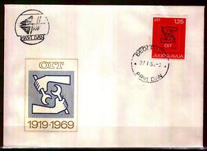 1317b - Yugoslavia 1969 - ILO,50th Anniversary - FDC