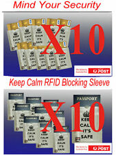 Mind your security =10 passport +10  bank cared RFID blocked sleeve Anti Theft
