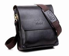 Men Leather Business Handbag shoulder bags black dark brown bag oblique shoulder