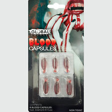 Fake Blood Capsules set of 6 Non Toxic Global Products Special FX
