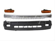 For 98-00 Tacoma 2Wd Front Bumper Chrome Trim + Lower Cover + Signal Light =4Pcs