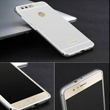 Alu Bumper 2 teilig mit Abdeckung Silber für Huawei Honor 8 Tasche Hülle Case