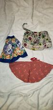 antique vintage doll clothes lot. Three handmade skirts,one gorgeous petticoat
