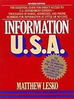 Information U. S. A. Paperback Matthew Lesko