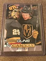 CODY GLASS 2019-20 Upper Deck UD Canvas Young Guns RC Vegas Golden Knights