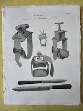 Vintage Engraving,SURGERY,Tourniquets,1810