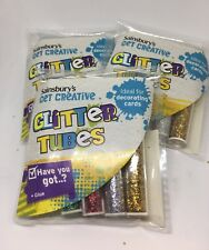 4 Sets of Glitter Tubes Kids Card Making Scrapbooking Creative Childrens Craft