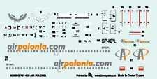 """Boeing 737-300 """"air polonia"""" airlines (polonais MKGS) 1/144 boa decal set"""