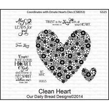 Clean Heart Cling Stamp Collection Our Daily Bread NEW love flower christian art