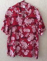 Royal Creations Hawaiian Shirt Made In Hawaii Men's Size 2XL Red Pineapple Aloha