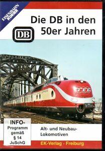 DVD Eisenbahn Kurier: Die DB in der 50er Jahren / Alt- und Neubauloks / 58 Min