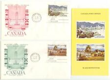 1972 Canada $1 and $2 issues First Day Covers Sc 600 and 601