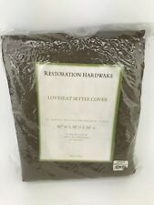 Restoration Hardware Love Seat Settee Cover outdoor brown Thick Vinyl Brown