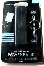 BLACK PORTABLE POWER BANK EMERGENCY MOBILE PHONE CHARGER + 20CM MICRO USB LEAD