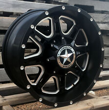 "18"" Matte Black Lonestar Outlaw Wheels Dodge Ram 1500 18x9 Inch 5x5.5 Rims"
