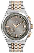New Citizen Satellite Wave World Time GPS Gray Dial Two-Tone Watch CC3026-51H