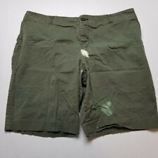 Mossimo Stretch Bleached Shorts Mens 38 Olive Green Chinos R17