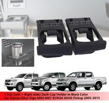 1 Pair Black Dash Cup Holder Use Toyota Hilux Vigo MK6 MK7 Pickup 2005 - 2015